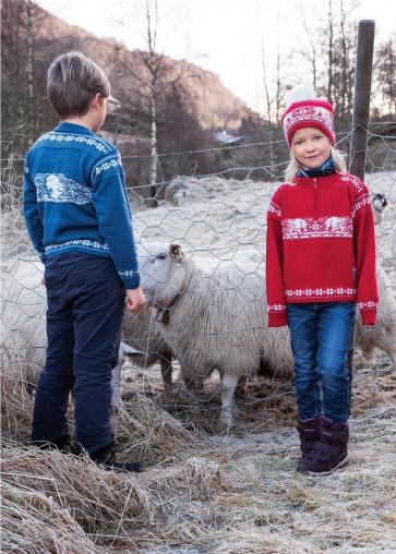 Polar Bear Wool Quarter Zip Pullover