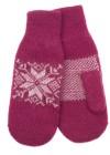 Snowflake Wool Mittens
