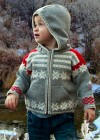 Snowflake Wool Hoodie